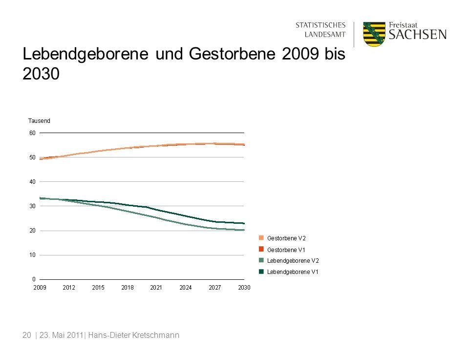| 23. Mai 2011| Hans-Dieter Kretschmann20 Lebendgeborene und Gestorbene 2009 bis 2030