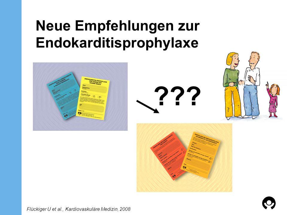 Konsensus der Schweizerischen Gesellschaft für Pädiatrische Kardiologie SGPK Im Kindesalter umfasst die Endokarditisprophylaxe eine sorgfältige Zahnhygiene, eine Sanierung von Infektionsherden und eine gezielte Antibiotikagabe bei Risiko einer Bakteriämie Vermeiden einer Übertherapie, d.h.