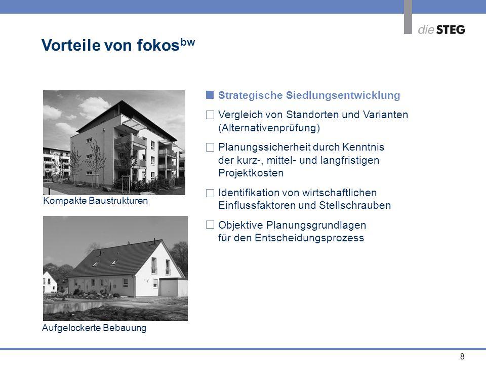 8 Strategische Siedlungsentwicklung Vergleich von Standorten und Varianten (Alternativenprüfung) Planungssicherheit durch Kenntnis der kurz-, mittel-
