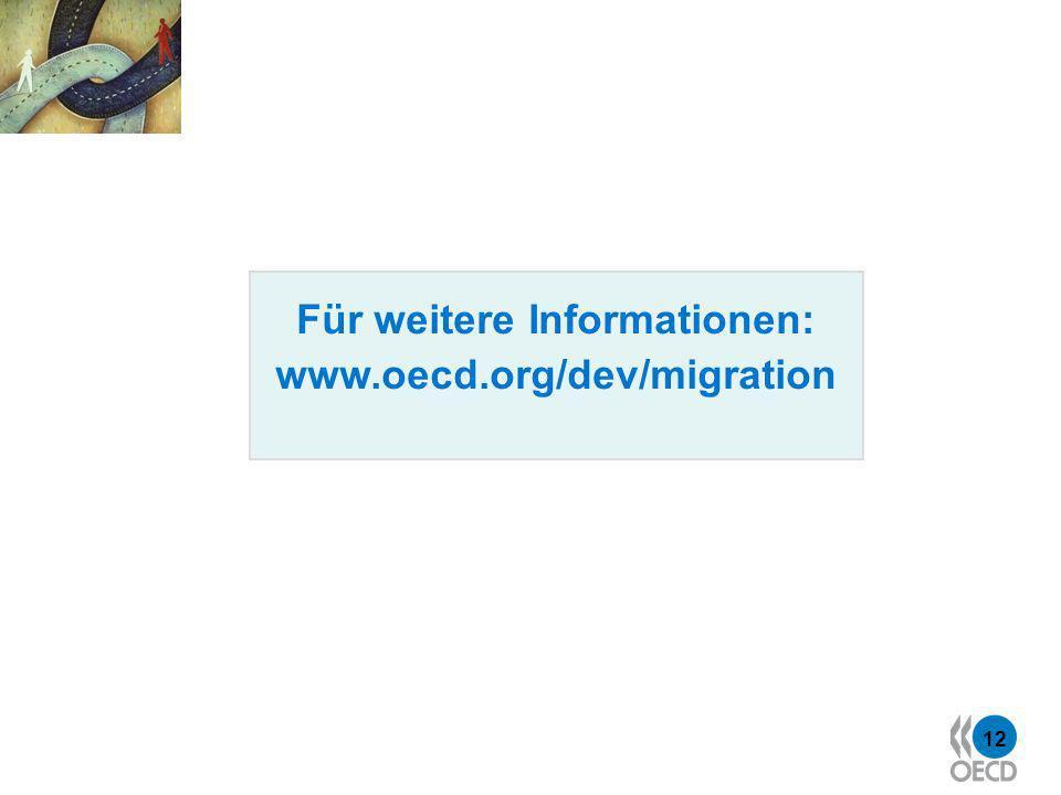12 Für weitere Informationen: www.oecd.org/dev/migration