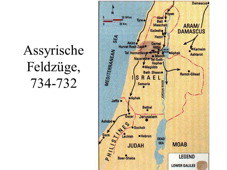 Assyrische Feldzüge, 734-732