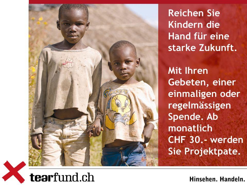 Reichen Sie Kindern die Hand für eine starke Zukunft.