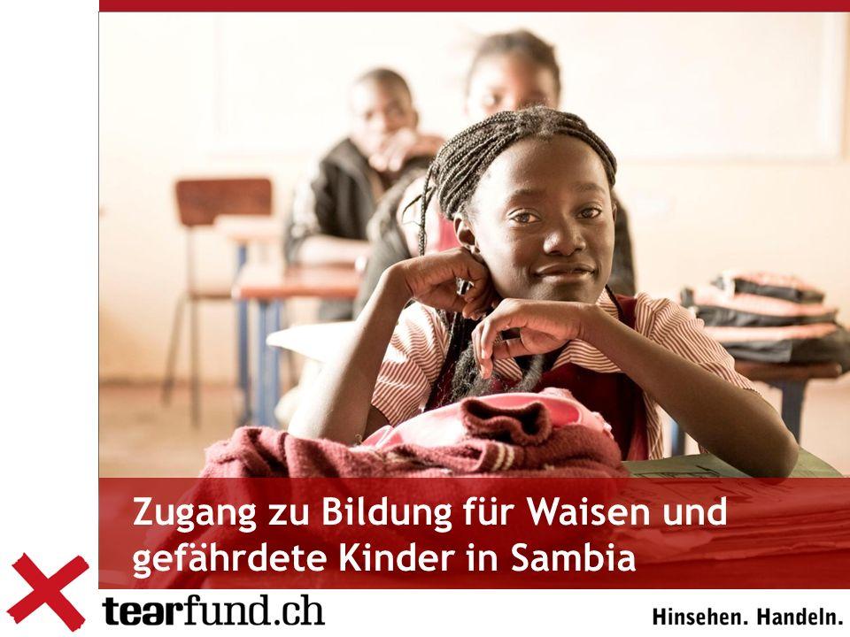 Zugang zu Bildung für Waisen und gefährdete Kinder in Sambia