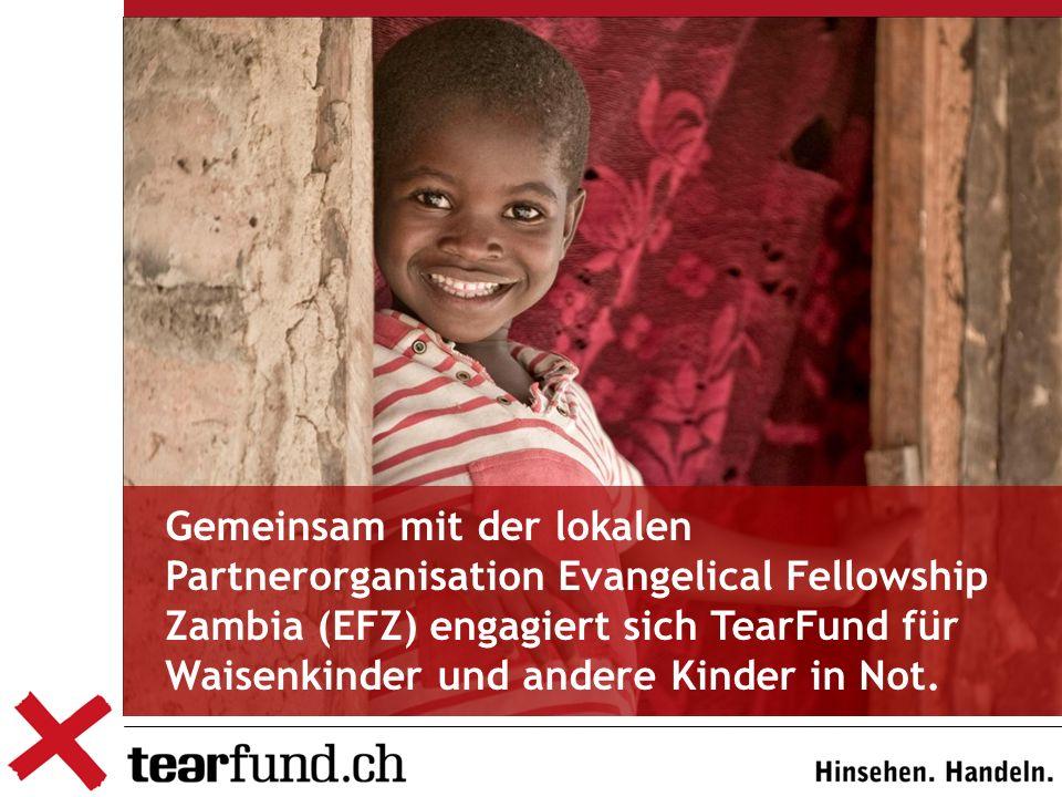Gemeinsam mit der lokalen Partnerorganisation Evangelical Fellowship Zambia (EFZ) engagiert sich TearFund für Waisenkinder und andere Kinder in Not.