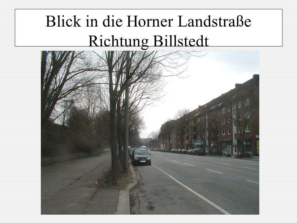 Blick in die Horner Landstraße Richtung Billstedt