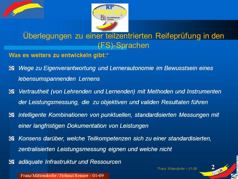 1 Was es in diesem Zusammenhang zu bedenken gibt:* die Dachmarke Berufsbildung und deren Leitbild die übergeordneten (europäischen) Bildungsziele von