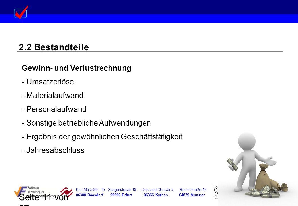 Karl-Marx-Str. 15 Steigerstraße 19 Dessauer Straße 5 Rosenstraße 12 06388 Baasdorf 99096 Erfurt 06366 Köthen 64839 Münster Seite 11 von 57 2.2 Bestand