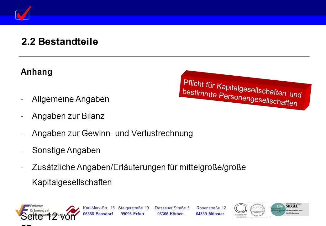 Karl-Marx-Str. 15 Steigerstraße 19 Dessauer Straße 5 Rosenstraße 12 06388 Baasdorf 99096 Erfurt 06366 Köthen 64839 Münster Seite 12 von 57 2.2 Bestand