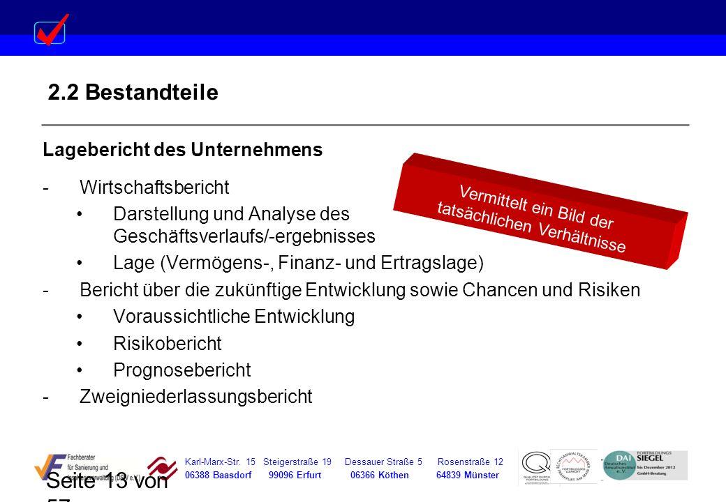 Karl-Marx-Str. 15 Steigerstraße 19 Dessauer Straße 5 Rosenstraße 12 06388 Baasdorf 99096 Erfurt 06366 Köthen 64839 Münster Seite 13 von 57 2.2 Bestand