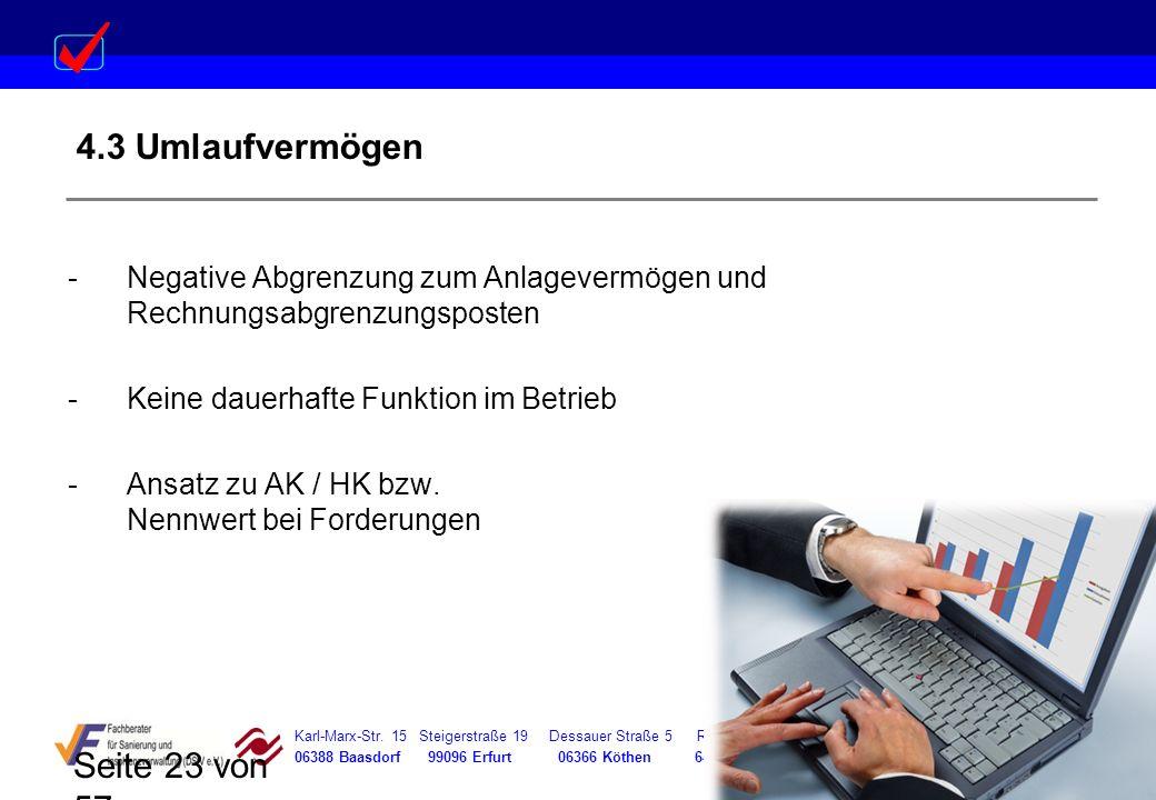 Karl-Marx-Str. 15 Steigerstraße 19 Dessauer Straße 5 Rosenstraße 12 06388 Baasdorf 99096 Erfurt 06366 Köthen 64839 Münster Seite 23 von 57 4.3 Umlaufv
