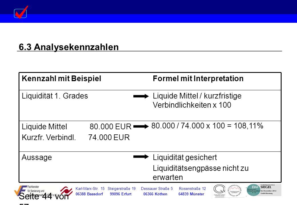 Karl-Marx-Str. 15 Steigerstraße 19 Dessauer Straße 5 Rosenstraße 12 06388 Baasdorf 99096 Erfurt 06366 Köthen 64839 Münster Seite 44 von 57 6.3 Analyse