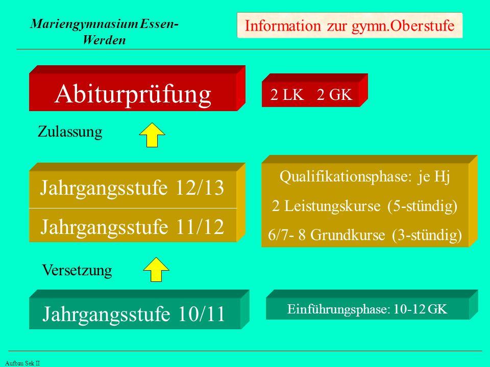 Mariengymnasium Essen- Werden Information zur gymn.