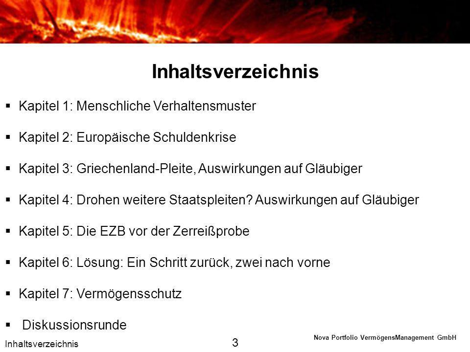 Nova Portfolio VermögensManagement GmbH Kapitel 1 Menschliche Verhaltensmuster 4
