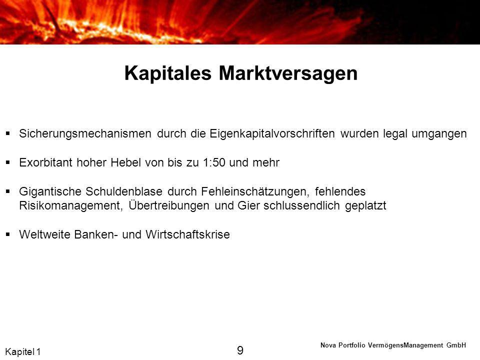 Nova Portfolio VermögensManagement GmbH Kapitel 6 Die Lösung: Ein Schritt zurück, zwei nach vorne 40