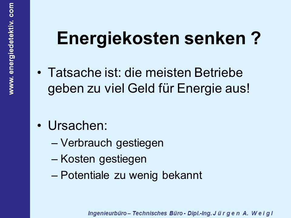 Ingenieurbüro – Technisches Büro - Dipl.-Ing. J ü r g e n A. W e i g l www. energiedetektiv. com