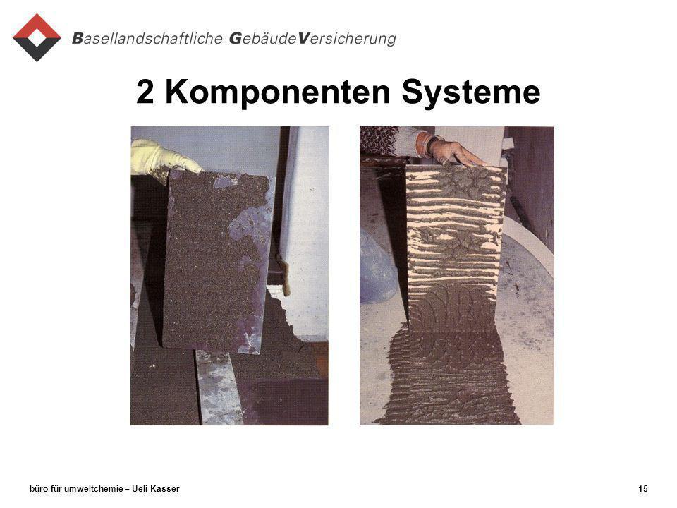 büro für umweltchemie – Ueli Kasser15 2 Komponenten Systeme