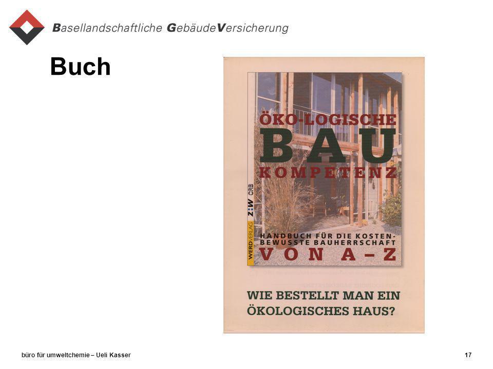 büro für umweltchemie – Ueli Kasser17 Buch