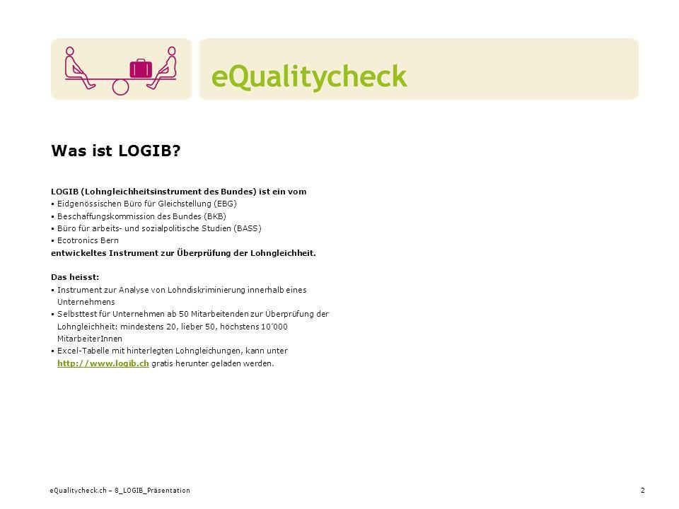 eQualitycheck.ch – 8_LOGIB_Präsentation2 Was ist LOGIB.