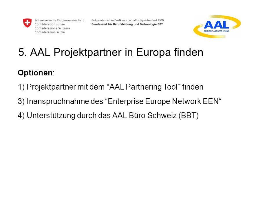 AAL Partnering Tool