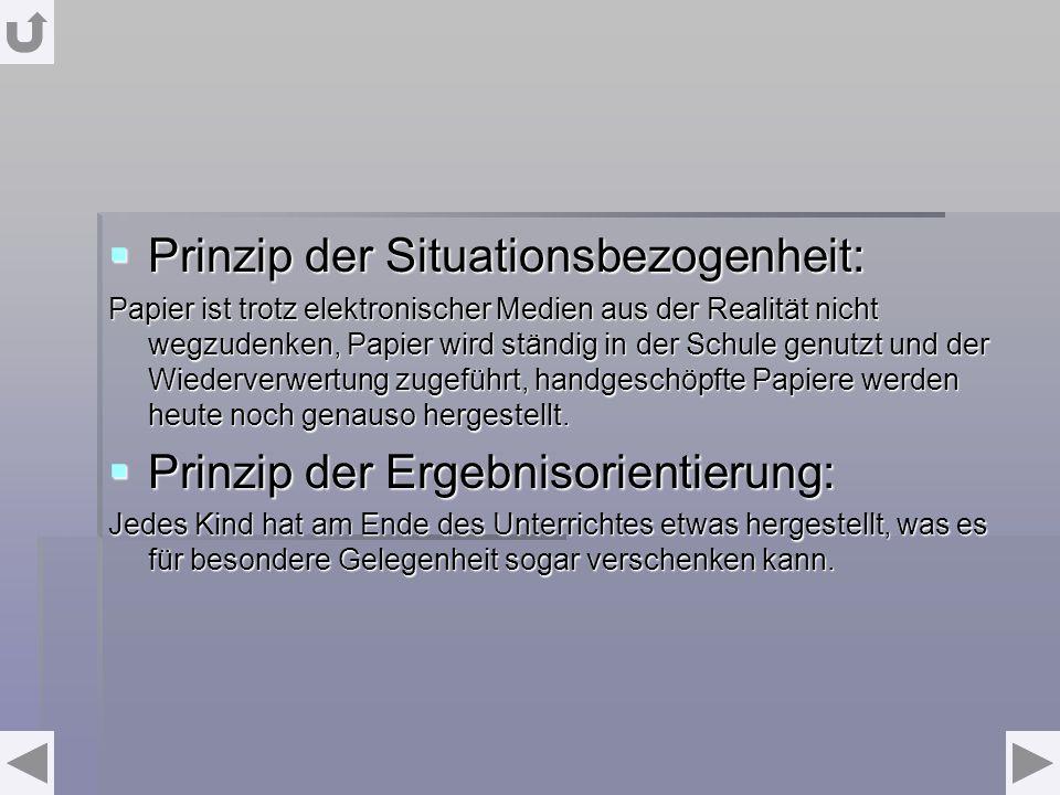 Prinzip der Situationsbezogenheit: Prinzip der Situationsbezogenheit: Papier ist trotz elektronischer Medien aus der Realität nicht wegzudenken, Papie