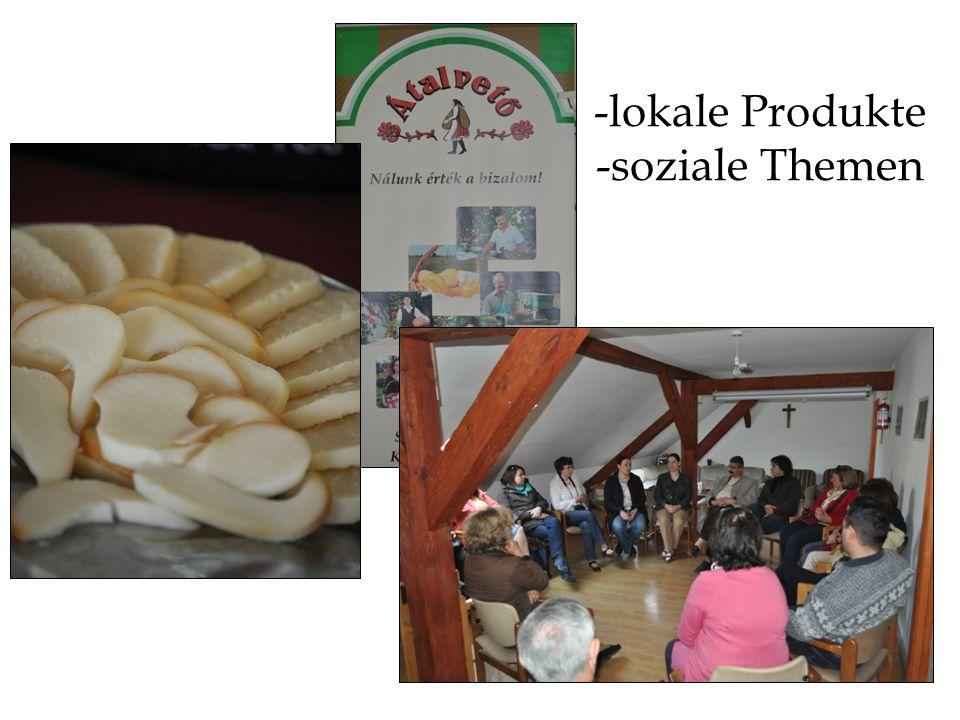 -lokale Produkte -soziale Themen