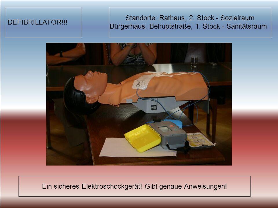 DEFIBRILLATOR!!. Ein sicheres Elektroschockgerät.