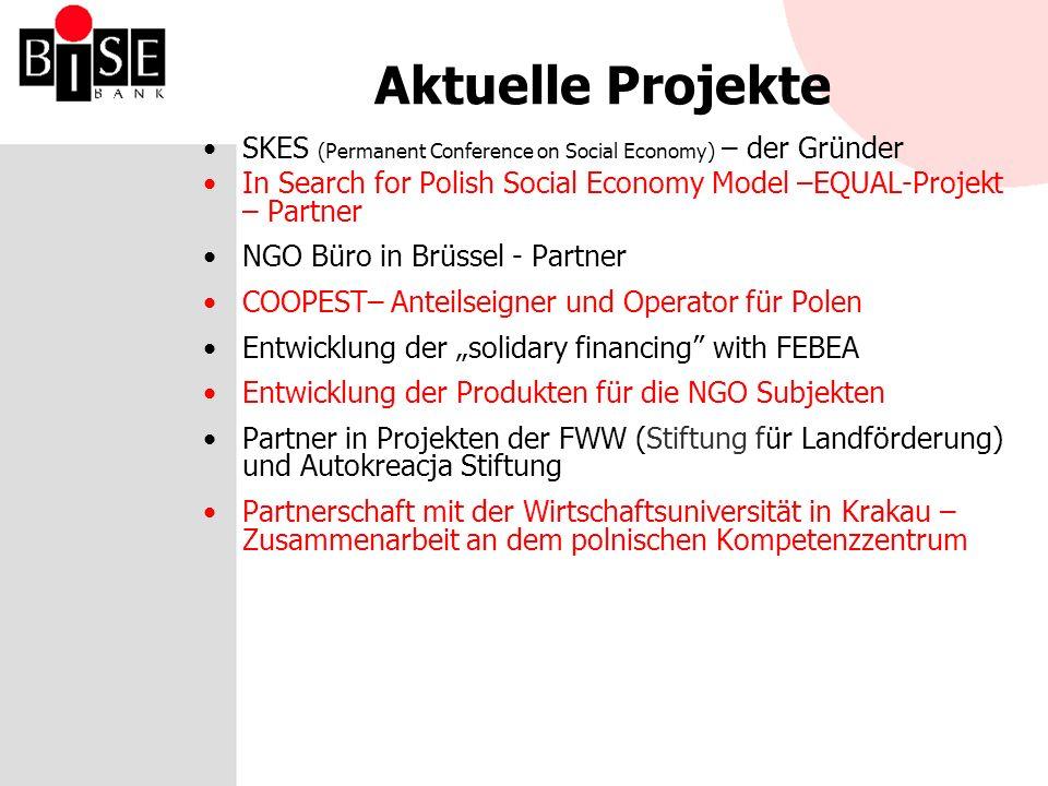 BISE-Partner im Bereich Sozialwirtschaft TUW FEBEA COOPEST DARR TISE FISE