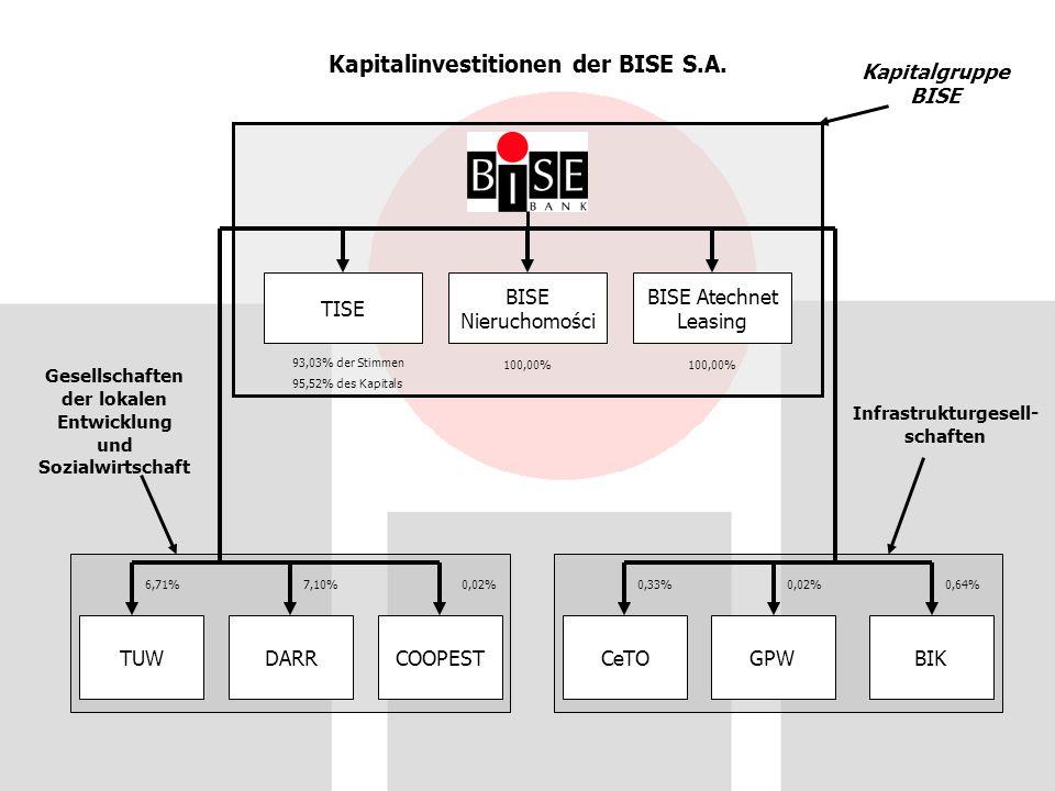 Kapitalinvestitionen der BISE S.A.