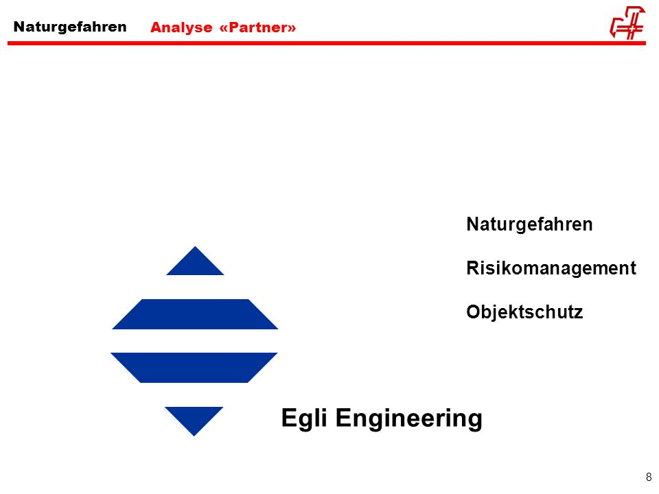 8 Analyse «Partner» Naturgefahren Risikomanagement Objektschutz Egli Engineering