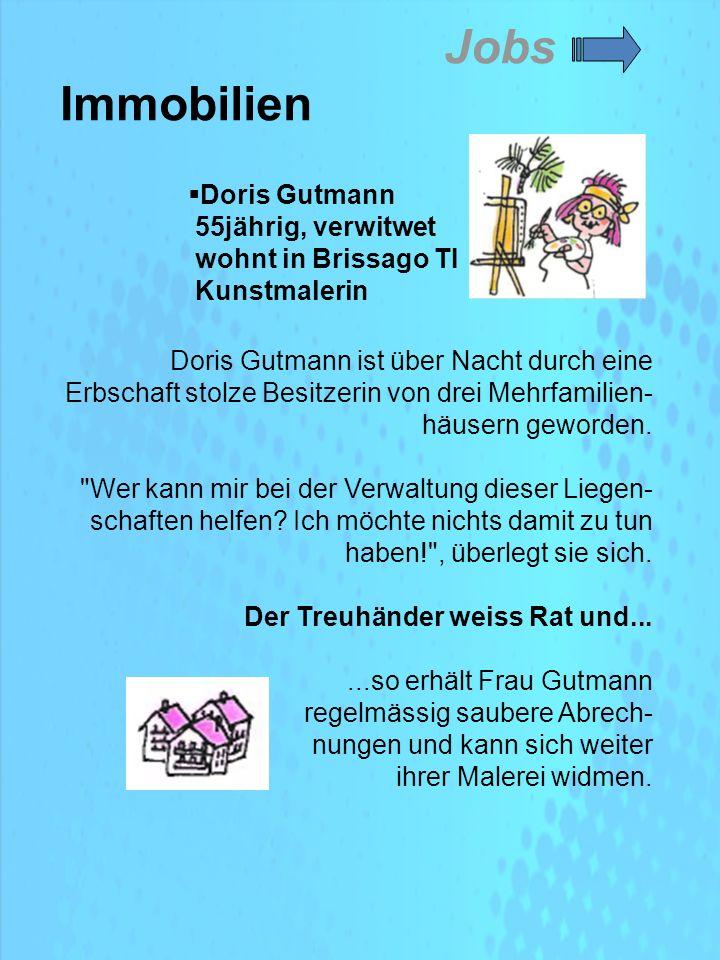Doris Gutmann ist über Nacht durch eine Erbschaft stolze Besitzerin von drei Mehrfamilien- häusern geworden.