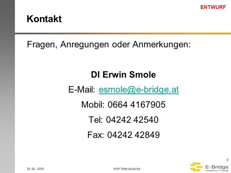 ENTWURF 29. 09.