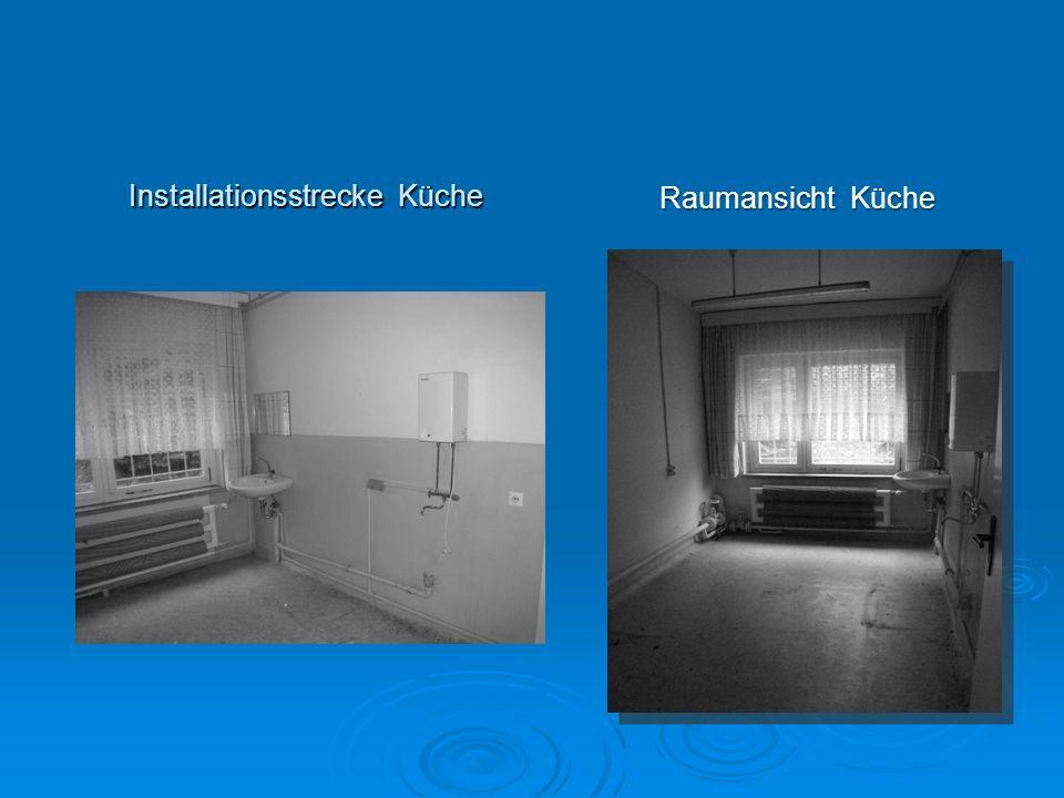 Ansicht eines Büroraumes Sanitärbereich mit Dusche und Waschtisch