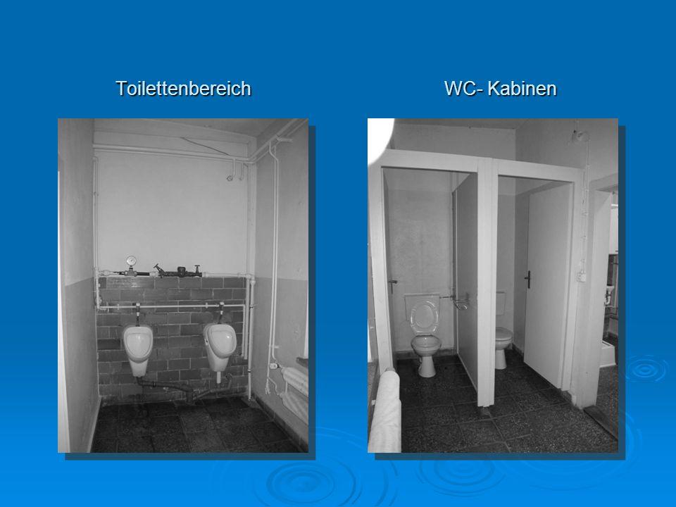 Toilettenbereich WC- Kabinen