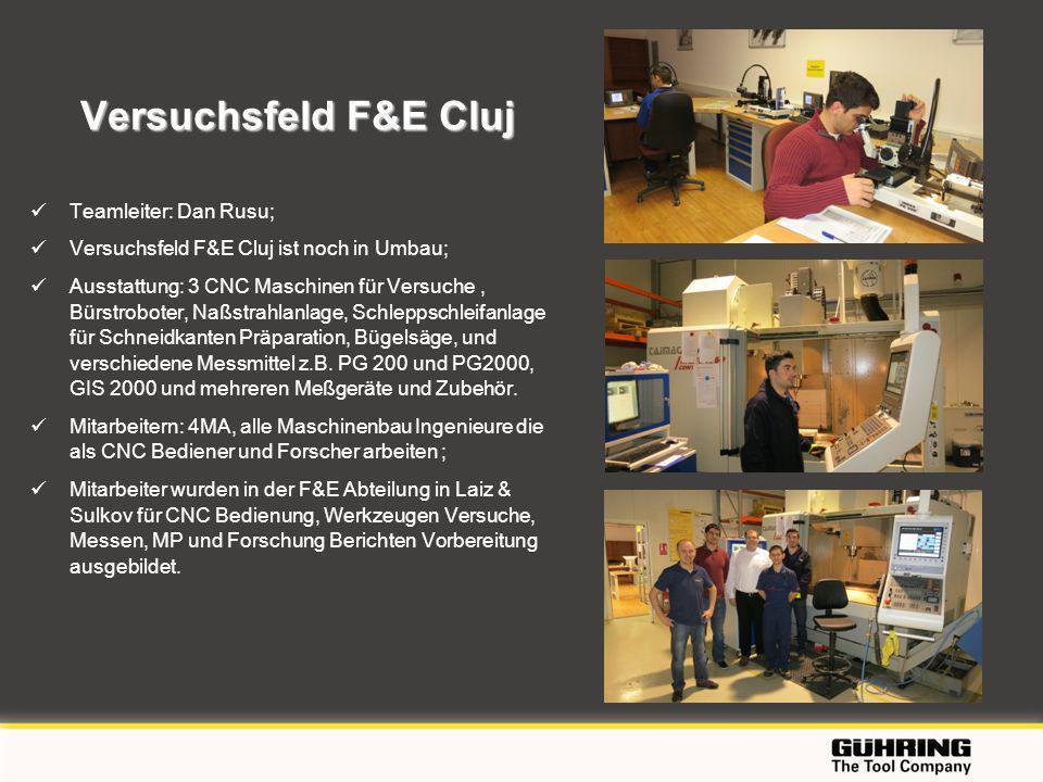EMO 2009 - Milano Versuchsfeld F&E Cluj Teamleiter: Dan Rusu; Versuchsfeld F&E Cluj ist noch in Umbau; Ausstattung: 3 CNC Maschinen für Versuche, Bürs