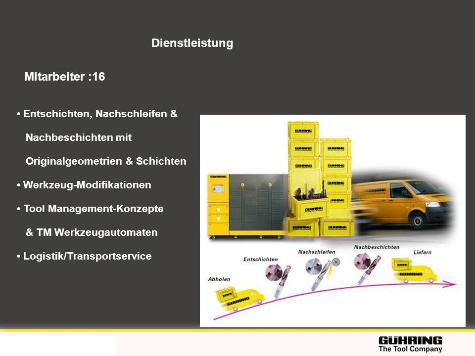 EMO 2009 - Milano Dienstleistung Entschichten, Nachschleifen & Nachbeschichten mit Originalgeometrien & Schichten Werkzeug-Modifikationen Tool Managem