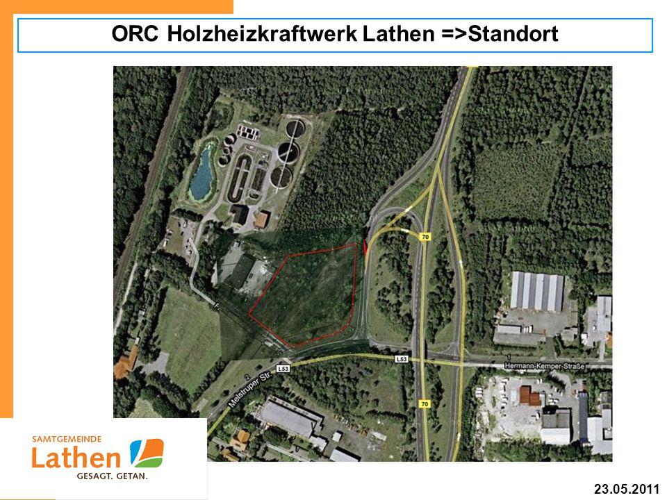ORC Holzheizkraftwerk Lathen =>Standort 23.05.2011