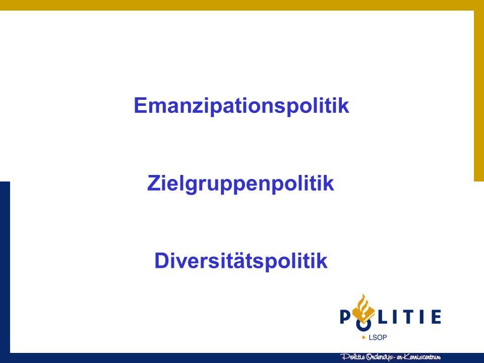 Emanzipationspolitik Zielgruppenpolitik Diversitätspolitik