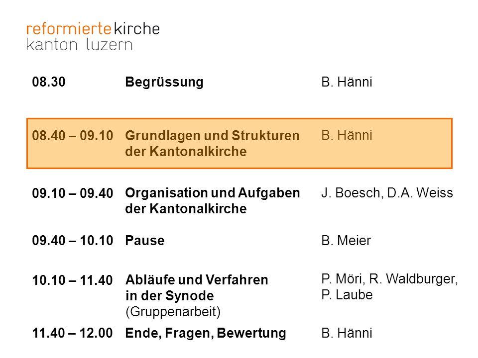 Synode: Delegierte II Verein kirchliche Gassenarbeit, Luzern Glaube in der 2.