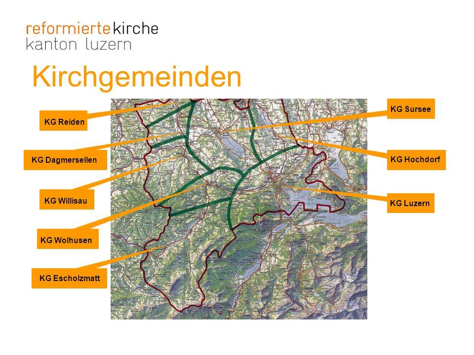 Kirchgemeinden KG Willisau KG Wolhusen KG Escholzmatt KG Sursee KG Hochdorf KG Luzern KG Reiden KG Dagmersellen
