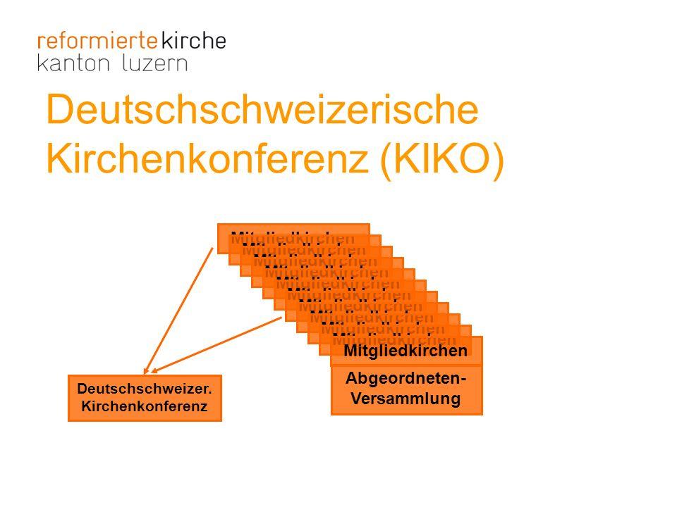 Deutschschweizerische Kirchenkonferenz (KIKO) Deutschschweizer. Kirchenkonferenz Mitgliedkirchen Abgeordneten- Versammlung
