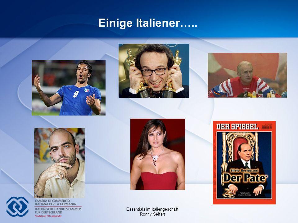 Essentials im Italiengeschäft Ronny Seifert Einige Italiener…..