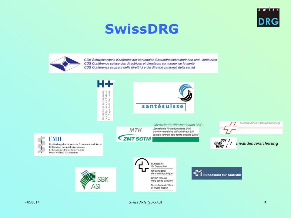 v050614SwissDRG_SBK-ASI4 SwissDRG MTK Invalidenversicherung Medizinaltarifkommission UVG