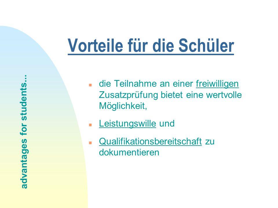 Das KMK - Fremdsprachenzertifikat © H. Janssen http://www.hjanssen.de
