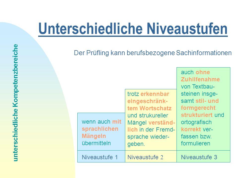 Prüfungsaufbau Aufgabenart Einzelaufgaben Reception 1.