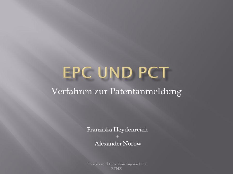London Agreement: Übereinkunft zwischen den Mitgliedern der EPC Zweck: Kostensenkung bei der Patentanmeldung durch weniger Übersetzungen Tritt am 1.Mai 2008 in Kraft Lizenz- und Patentvertragsrecht II ETHZ
