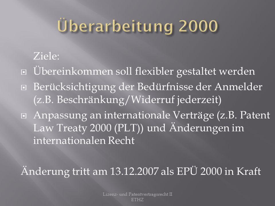 Lizenz- und Patentvertragsrecht II ETHZ