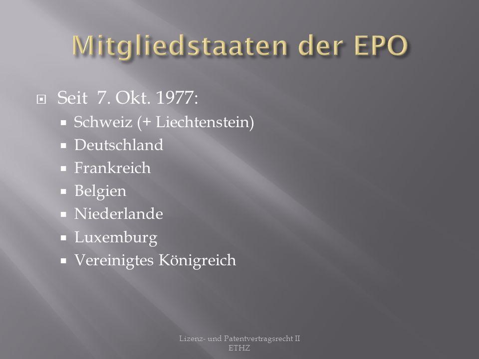 Weitere europäische Staaten folgten Neuste Mitglieder: 1.