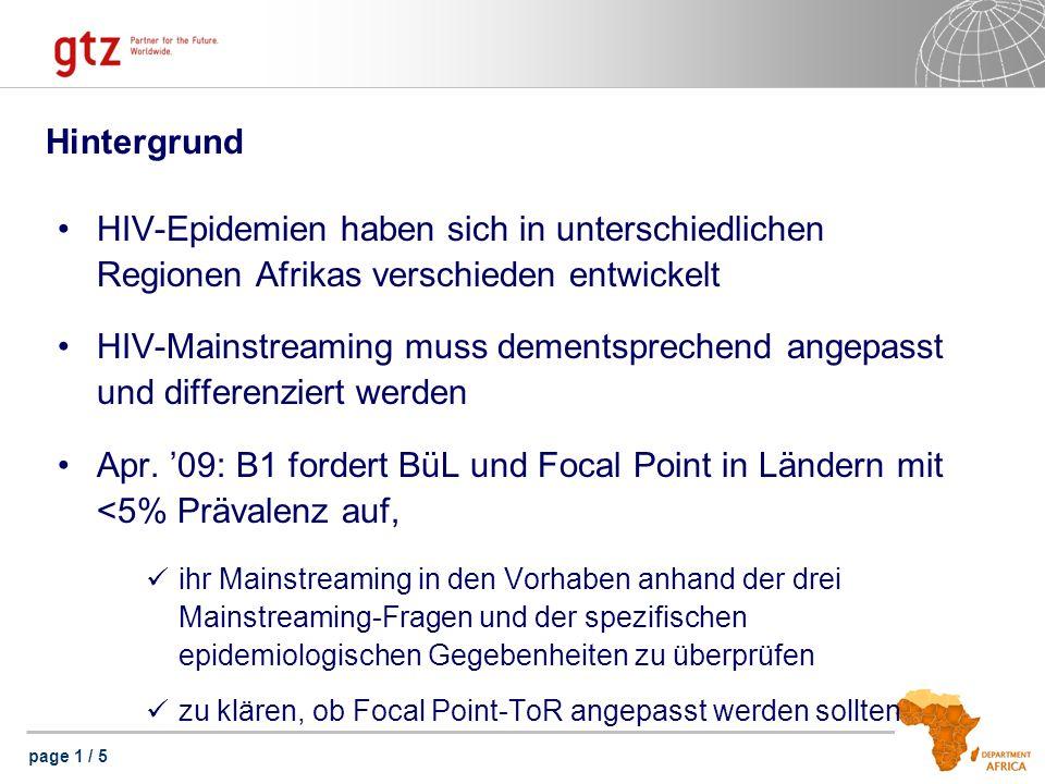 page 2 / 5 Epidemiologische Situation 12 Länder führen eine Eigenprüfung durch Epidemiologisch ergeben sich drei Gruppen A.