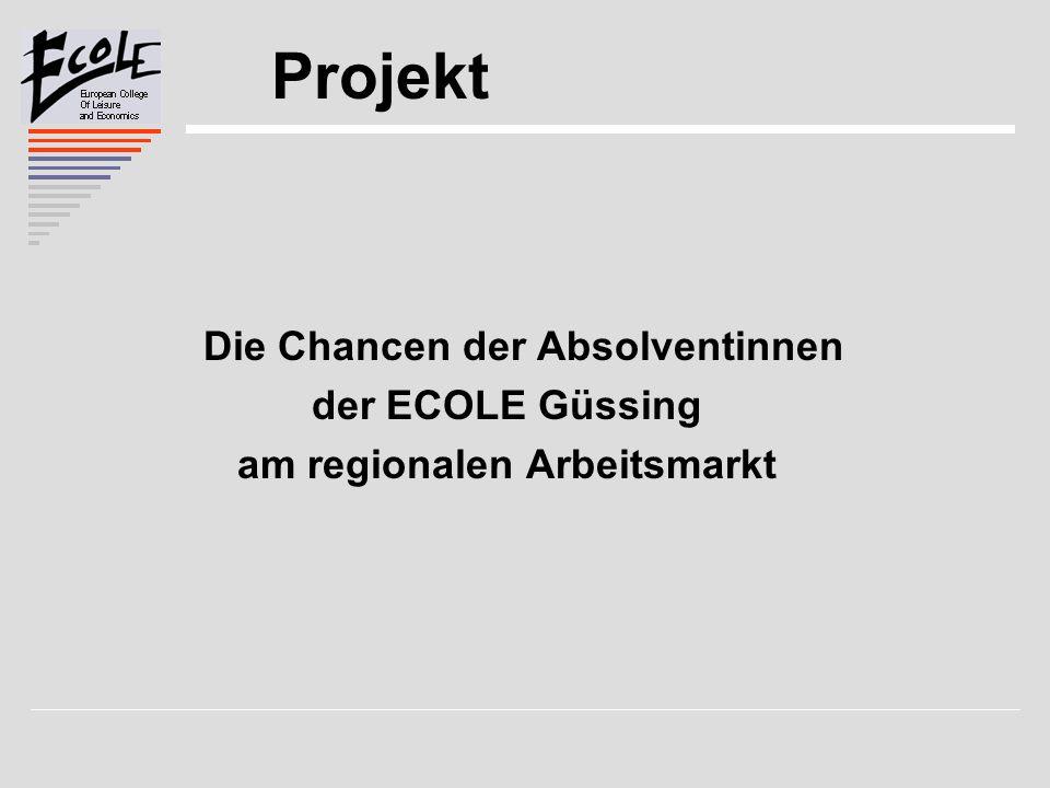 Projekt Die Chancen der Absolventinnen der ECOLE Güssing am regionalen Arbeitsmarkt