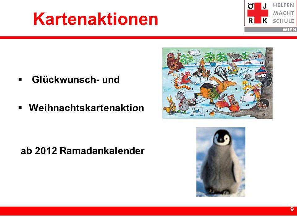 9 9 Kartenaktionen Glückwunsch- und Weihnachtskartenaktion ab 2012 Ramadankalender
